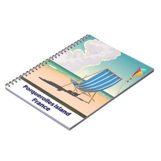 Affiche de voyage de la France d'île de Carnet