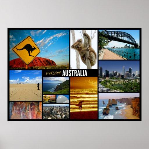 affiche de voyage de l'australie