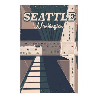 Affiche de voyage de l'état de Washington de Papier À Lettre