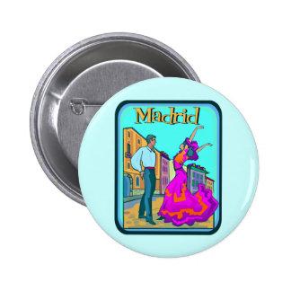 Affiche de voyage de Madrid Badge
