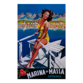 Affiche de voyage de marina de Massa Posters