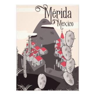 Affiche de voyage de Mérida Mexique Impression Photo