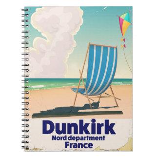 Affiche de voyage de plage de Dunkerque Carnet