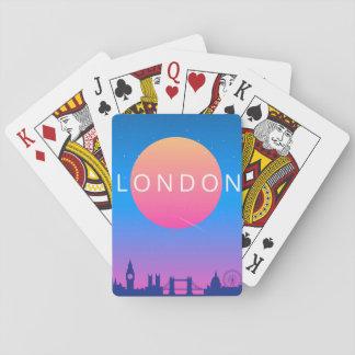 Affiche de voyage de points de repère de Londres Jeu De Cartes