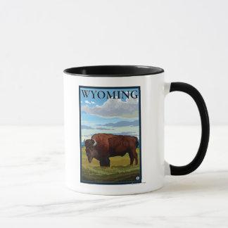 Affiche de voyage de SceneWyomingVintage de bison Mug
