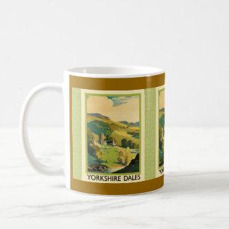 Affiche de voyage de vallées de Yorkshire Mug
