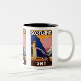 """""""Affiche de voyage de Vintage Scotland Bus Company Tasse"""