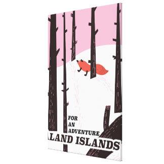 Affiche de voyage d'îles de Åland, Finlande Toile