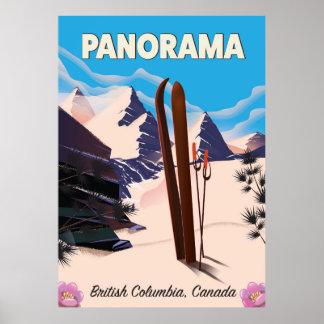 Affiche de voyage du Canada de panorama Poster