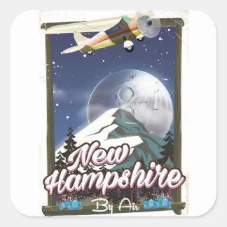 Affiche de voyage du New Hampshire, Washington de Sticker Carré