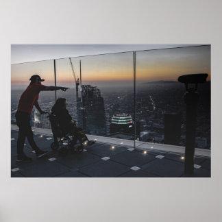 Affiche de vue de Los Angeles