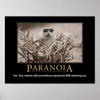 Affiche d'écureuil de Demotivational : Paranoïa