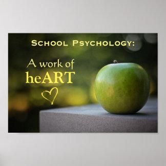 Affiche définie par psychologie d'école poster