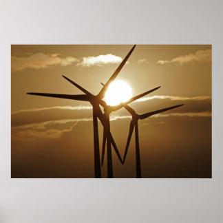 Affiche d'énergie éolienne
