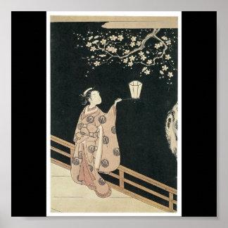 Affiche des 1760's en retard de peinture japonais
