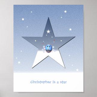 Affiche d'étoile pour des enfants posters