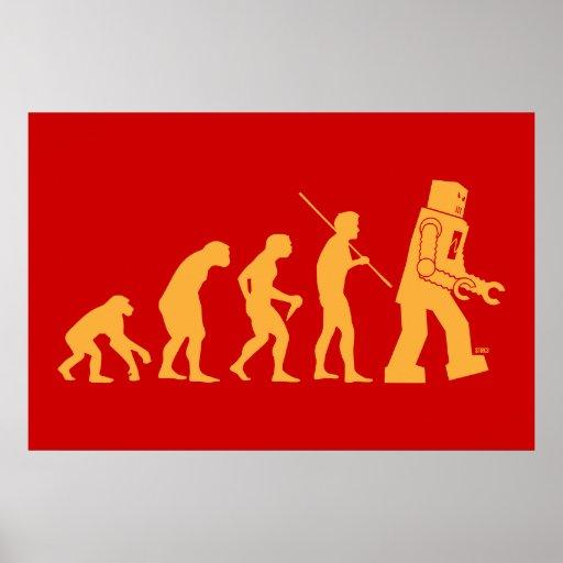 Affiche d'évolution de robot