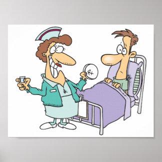 Affiche d'infirmière et de patient poster