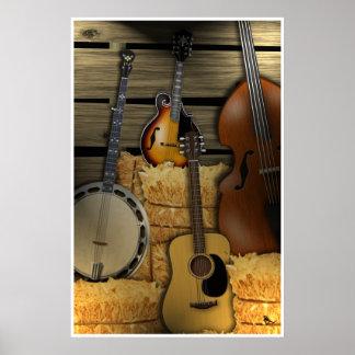 Affiche d'instruments de Bluegrass