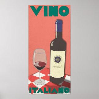 Affiche d'Italiano de vin Posters