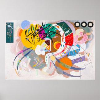 Affiche dominante de courbe de Kandinsky