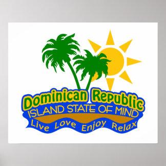 Affiche dominicaine d'état d'esprit