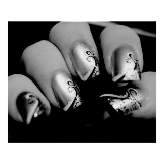 Affiche d'ongles de concepteur