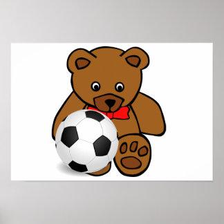 """Affiche """"d'ours du football"""""""