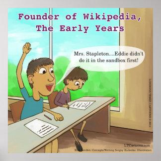 Affiche drôle de bande dessinée d'enfants ringards