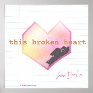 """Affiche du """"ce coeur brisé"""" posters"""