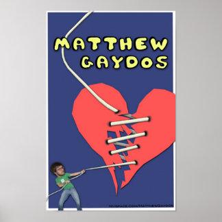 Affiche du coeur brisé de Matthew Gaydos Posters