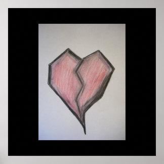 Affiche du coeur brisé