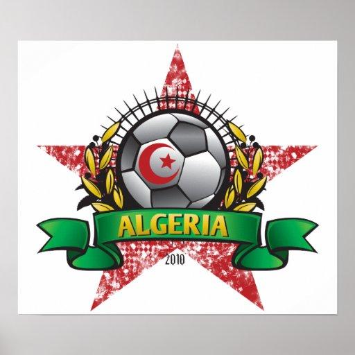 Affiche du football de coupe du monde de l'Algérie