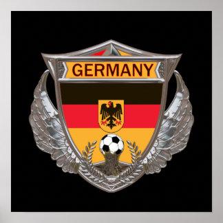Affiche du football de l'Allemagne