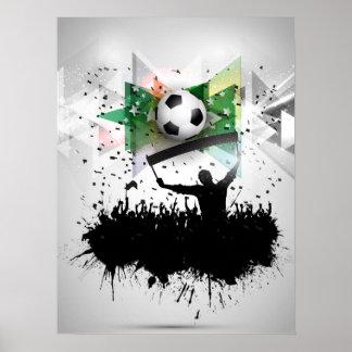 Affiche du football/football