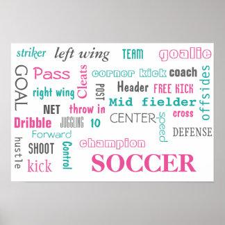 Affiche du football ! Grande manière de montrer !