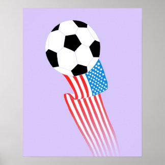 Affiche du football : Lavande Etats-Unis