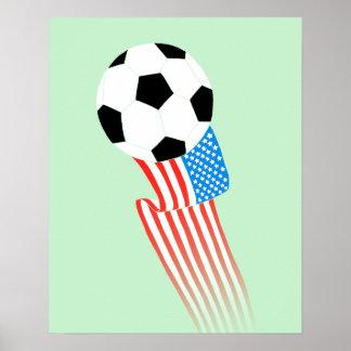 Affiche du football : Les Etats-Unis verts