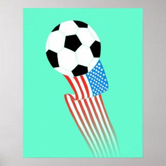 Affiche du football : Turquoise Etats-Unis