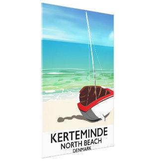 Affiche du nord de voyage du Danemark de plage de Toiles