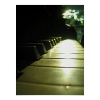 affiche du piano 18x24 au soleil