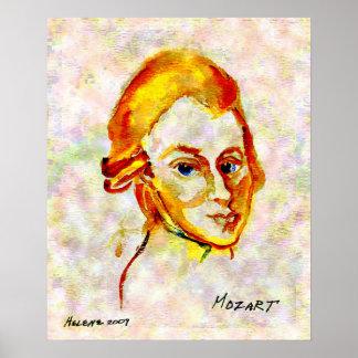 Affiche du portrait un de Mozart