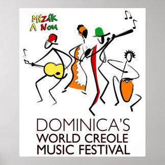 Affiche du WCMF de la Dominique Posters