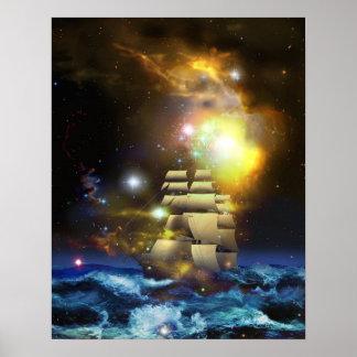Affiche d'univers de bateau de voile