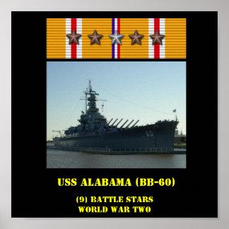 AFFICHE D'USS ALABAMA (BB-60)