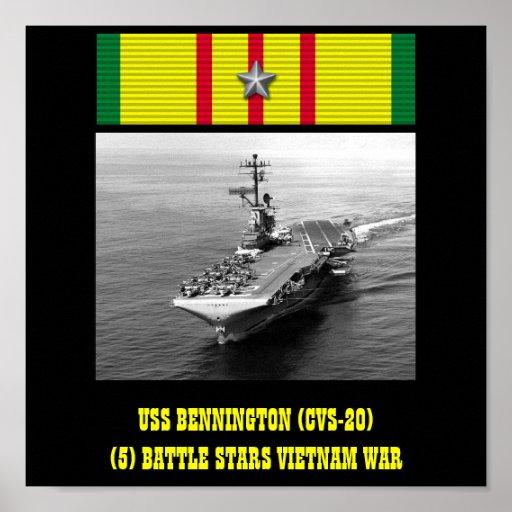 AFFICHE D'USS BENNINGTON (CVS-20)