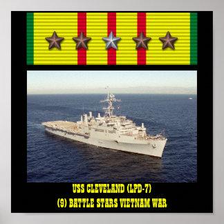 AFFICHE D'USS CLEVELAND (LPD-7)