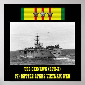 AFFICHE D'USS L'OKINAWA (LPH-3)