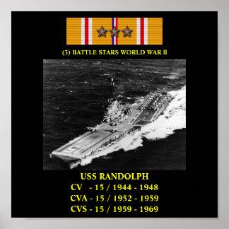AFFICHE D'USS RANDOLPH (CV/CVA/CVS-15)