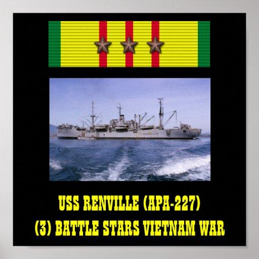 AFFICHE D'USS RENVILLE (APA-227)